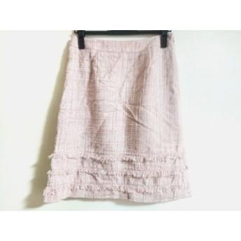 【中古】 ギャラリービスコンティ スカート サイズ3 L レディース ピンク ベージュ チェック柄