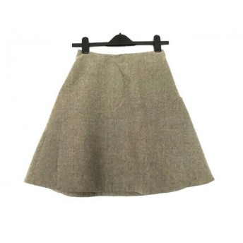 【中古】 マルニ MARNI スカート サイズ40 M レディース グレーベージュ