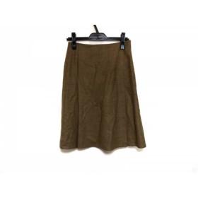 【中古】 マウリツィオペコラーロ スカート サイズ40 M レディース 美品 ライトブラウン