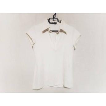 【中古】 セオリー theory 半袖ポロシャツ サイズ4 S レディース ベージュ