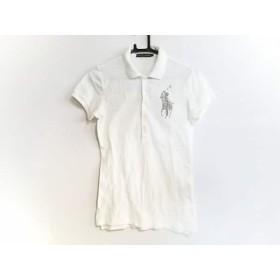 【中古】 ラルフローレン RalphLauren 半袖ポロシャツ サイズM レディース 白 シルバー ビーズ