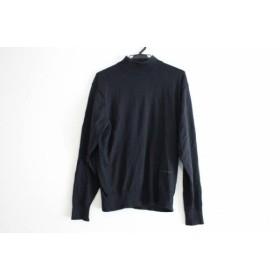 【中古】 バーバリーロンドン Burberry LONDON 長袖セーター サイズM メンズ 黒 ハイネック