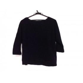 【中古】 グレースコンチネンタル 七分袖セーター サイズ36 S レディース ダークネイビー