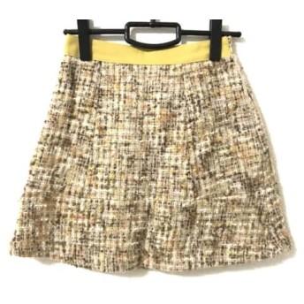 【中古】 ジャスグリッティー JUSGLITTY スカート サイズ1 S レディース ベージュ オレンジ マルチ
