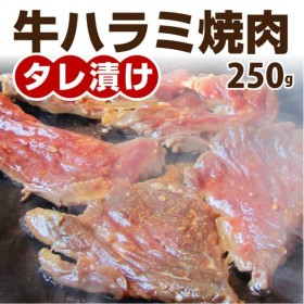 【冷凍】牛ハラミ焼肉(タレ漬け)250g【 BBQ バーベキュー タレ 秘伝 焼肉 やきにく ハラミ 】[しゃぶまるネットショップ]