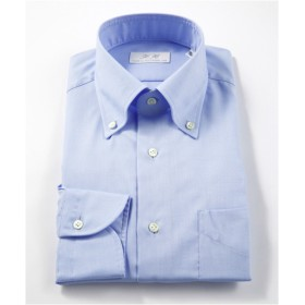 [シャツ]ダブルエイチ ドレスシャツ HH7A-B-009 ブルー オックス 38-84