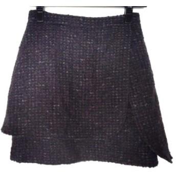 【中古】 フレイアイディー ミニスカート サイズ0 XS レディース ダークブラウン マルチ ツイード
