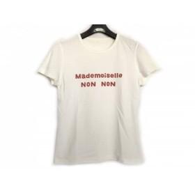 【中古】 マドモアゼルノンノン Mademoiselle NON NON 半袖Tシャツ サイズM レディース 白 ボルドー