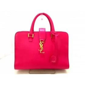 【中古】 イヴサンローラン YvesSaintLaurent ハンドバッグ ピンク レザー
