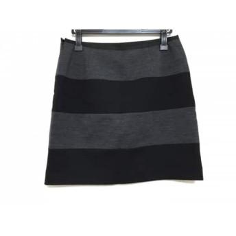 【中古】 ニジュウサンク スカート サイズ40 M レディース ダークグレー 黒 Vingt-trois arrondissements