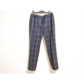 【中古】 トゥモローランド パンツ サイズ36 S レディース ダークネイビー 黒 マルチ チェック柄
