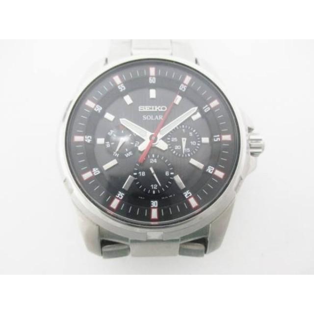 8b81515dcae9 中古】 セイコー SEIKO 腕時計 V14J-0BK0 メンズ 黒 通販 LINEポイント ...