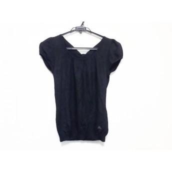 【中古】 バーバリーブルーレーベル Burberry Blue Label 半袖セーター サイズ38 M レディース 黒 リボン