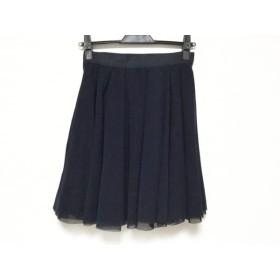【中古】 アベニールエトワール Aveniretoile スカート サイズ36 S レディース 黒 ダークネイビー
