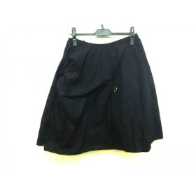 【中古】 トリココムデギャルソン ミニスカート サイズM レディース ダークネイビー AD1999/変形デザイン