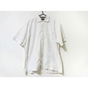 【中古】 ティンバーランド Timberland 半袖シャツ サイズS メンズ - 白 麻綿ポリウレタン