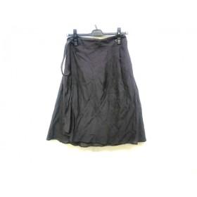 【中古】 セオリーリュクス theory luxe 巻きスカート サイズ38 M レディース ダークブラウン