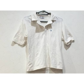 【中古】 フクゾー FUKUZO 半袖ポロシャツ サイズ無し レディース 白 ニット