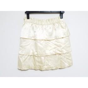 【中古】 カオン kaon ミニスカート サイズ36 S レディース アイボリー シルク/フリル