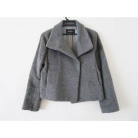 【中古】 マカフィ MACPHEE コート サイズ38 M レディース グレー アルパカ混/冬物
