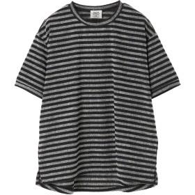 THING FABRICS 【THING FABRICS/シングファブリックス】ジャガード Tシャツ Tシャツ・カットソー,Black×White