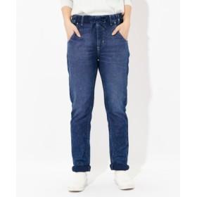 EDWIN 【涼しいジーンズ】メッシュストレートデニム レディース 濃加工色