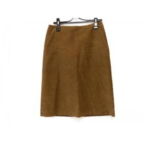 【中古】 アニエスベー agnes b スカート サイズ36 S レディース ブラウン コーデュロイ