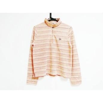【中古】 ケンゾー KENZO 長袖ポロシャツ サイズ2 M レディース オレンジ レッド アイボリー