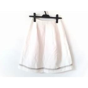 【中古】 エムズグレイシー M'S GRACY スカート サイズ38 M レディース 白 ベージュ ラメ
