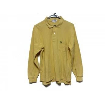 【中古】 バーバリーズ Burberry's 長袖ポロシャツ サイズL メンズ イエロー