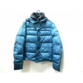 【中古】 ピューテリー PEUTEREY ダウンコート サイズS メンズ ブルー 冬物/ジップアップ