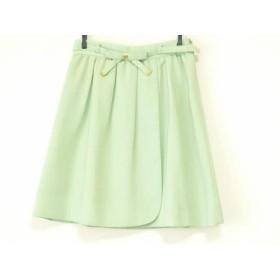 【中古】 アプワイザーリッシェ Apuweiser-riche スカート サイズ2 M レディース ライトグリーン