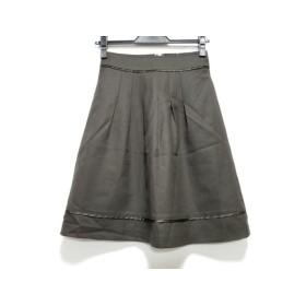 【中古】 ニジュウサンク 23区 スカート サイズ30 XS レディース 美品 ダークブラウン