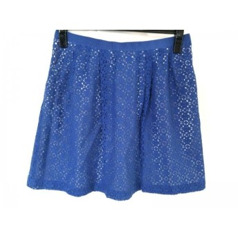【中古】 マークバイマークジェイコブス MARC BY MARC JACOBS ミニスカート サイズ2 S レディース ブルー