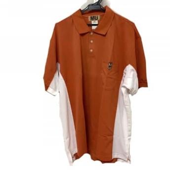 【中古】ミエコウエサコ M・U・ SPORTS 半袖ポロシャツ サイズ52 メンズ 美品 オレンジx白