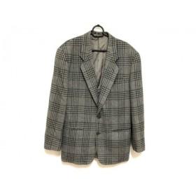【中古】 エンポリオアルマーニ ジャケット サイズ48 M メンズ グレー ダークグリーン チェック柄