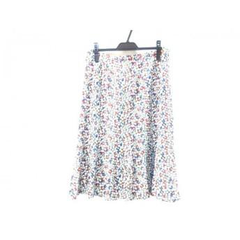 【中古】 ジョコンダ joconde スカート サイズ73-100 レディース ホワイト ブラック マルチ