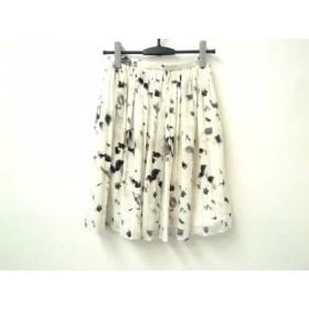 【中古】 ジャスグリッティー JUSGLITTY スカート サイズ0 XS レディース 白 グレー ダークグレー
