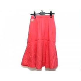 【中古】 レオナール LEONARD ロングスカート レディース ピンク フラワー/刺繍