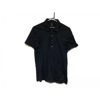 【中古】 ルイヴィトン LOUIS VUITTON 半袖ポロシャツ サイズS メンズ 黒