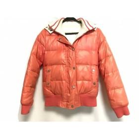 【中古】 トミーヒルフィガー ダウンジャケット サイズS S レディース 美品 オレンジ 冬物