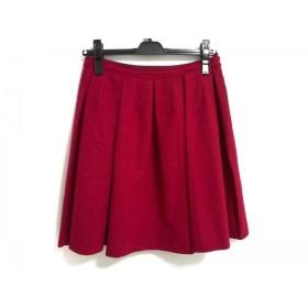 【中古】 ジェーンマープル Jane Marple スカート サイズM レディース 美品 レッド Dans Le Salon