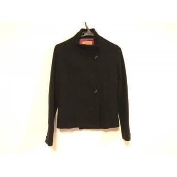 【中古】 スーナウーナ SunaUna コート サイズ38 M レディース 黒 ショート丈/冬物 毛ナイロンキュプラ