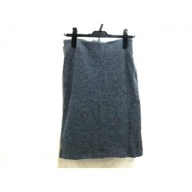 【中古】 バナーバレット BannerBarrett スカート サイズ38 M レディース グレイ ブルー