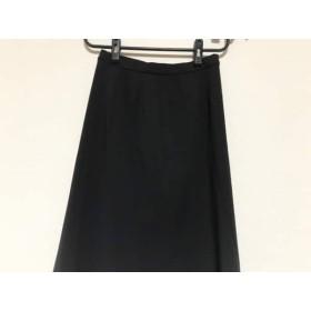 【中古】 レリアン Leilian ロングスカート サイズ9 M レディース 美品 黒