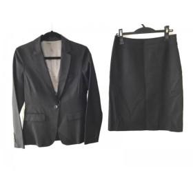 【中古】 ノーリーズ NOLLEY'S スカートスーツ サイズ40 M レディース 黒