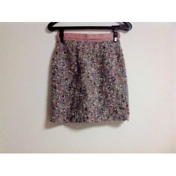 【中古】 アプワイザーリッシェ スカート サイズ0 XS レディース ピンク マルチ ツイード