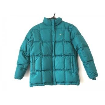 【中古】 ラコステ Lacoste ダウンコート サイズ38 M レディース ブルー 冬物/ジップアップ