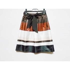【中古】 トゥービーシック スカート サイズ38 M レディース 美品 ダークブラウン ブラウン マルチ