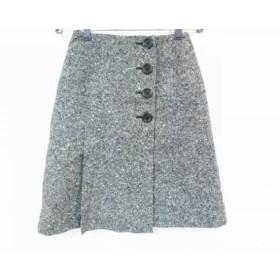 【中古】 ヨークランド YORKLAND スカート サイズ9AR S レディース 美品 アイボリー 黒